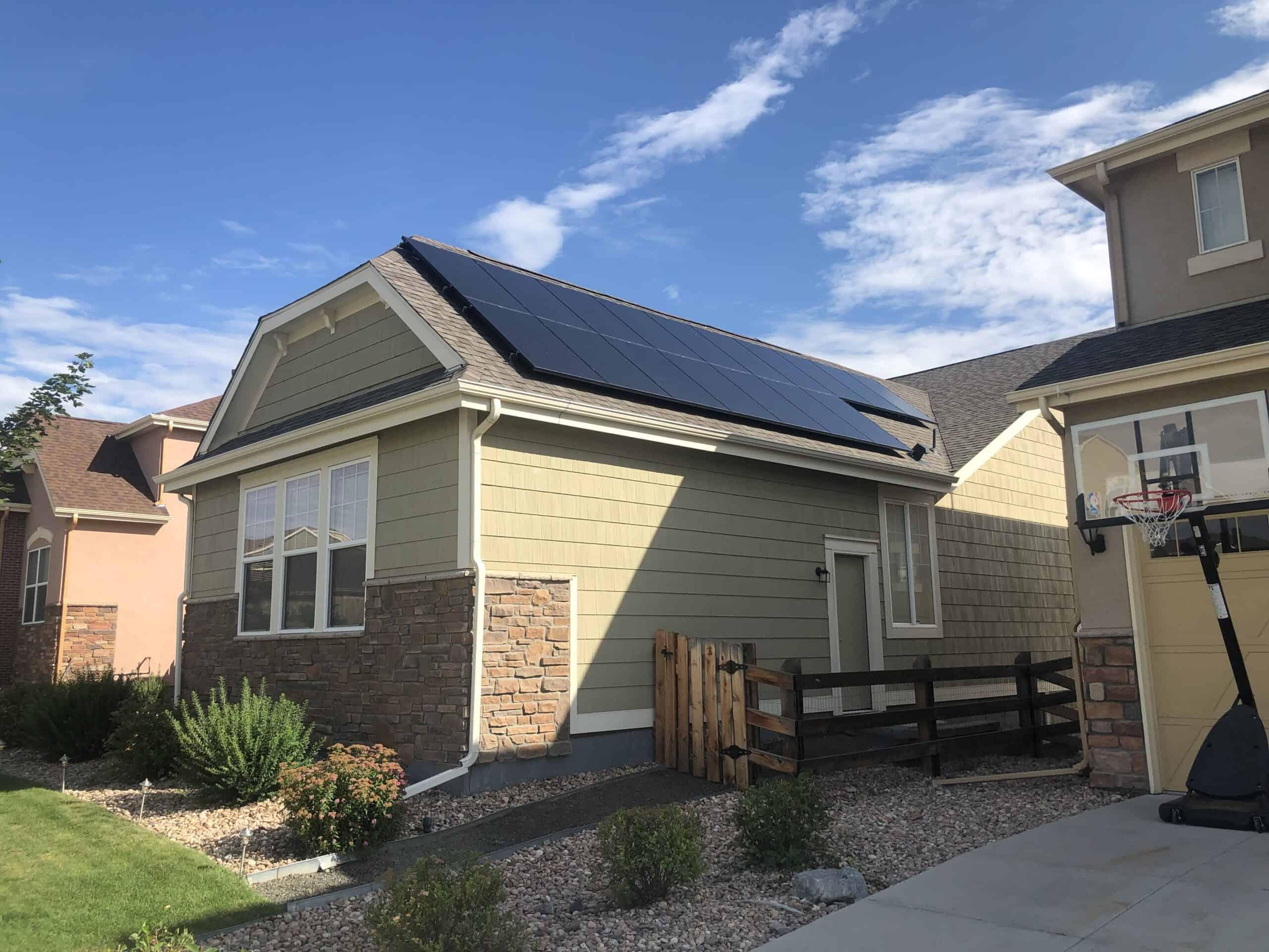 home with solar panels denver