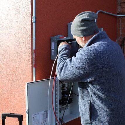 Geoff Solar Install at Atlas Real Estate Denver